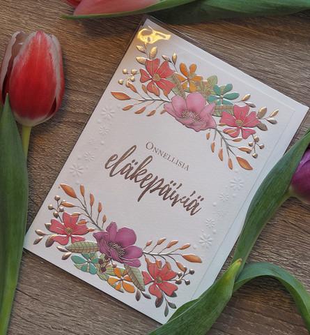 Onnellisia eläkepäiviä 2-osainen kortti