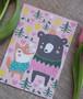 Kettu ja karhu ystävykset- postikortti
