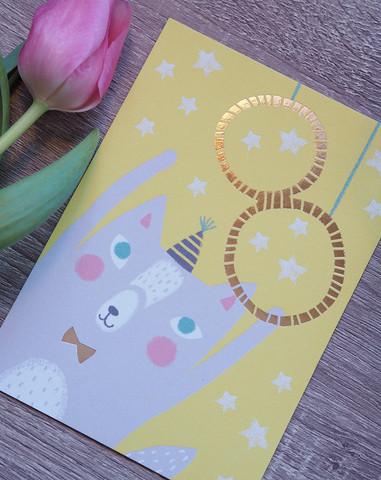 Onnea 8-vuotias postikortti