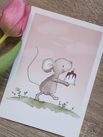 Hiiren kakku-postikortti