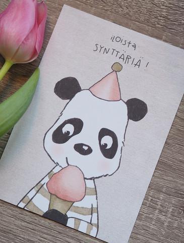 Synttäripanda-postikortti