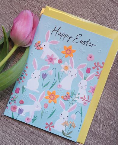 Pääsiäispuput. 2-osainen kortti