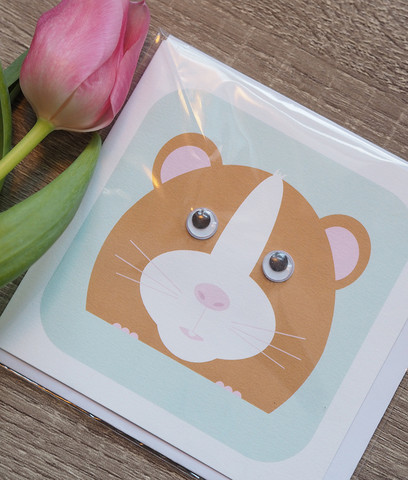 Vilkkusilmä hamsteri. 2-osainen kortti