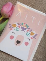 Äiti-karhu. 2-osainen kortti