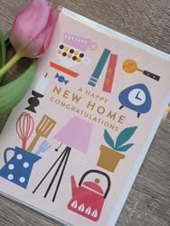 New home. 2-osainen kortti