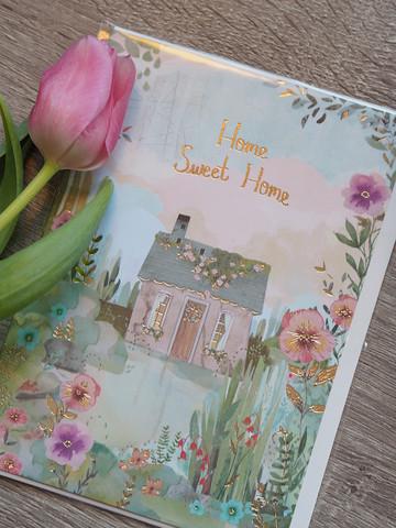 Home sweet home. 2-osainen kortti