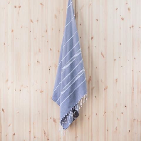 Ranta hamam-pyyhe,savunsininen