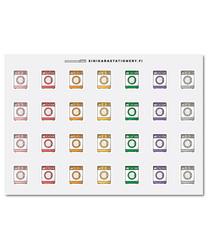 Pyykinpesukoneet-kalenteritarrat
