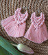 Makramee-korvakoru, roosa