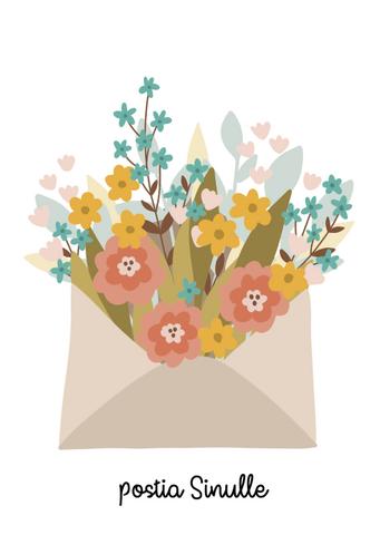 Postia sinulle-postikortti