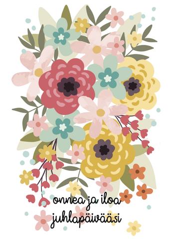 Juhlapäivä-2.osainen postikortti