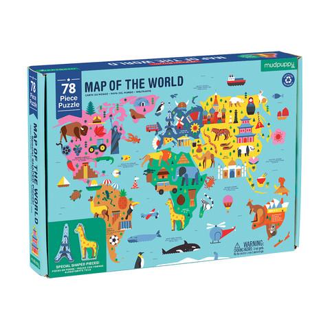 Map of the world-palapeli, 78 palaa. Ikäsuositus 5+