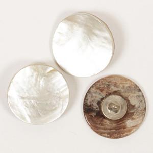 Valkoinen helmiäisnappi, 20 mm