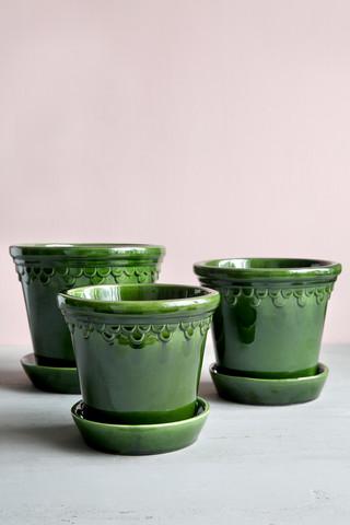 Bergs potter ruukku, Copenhagen Glazed green Emerald, 12 cm (vain nouto)