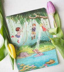 Belle & Boo viidakossa-muistivihko A5