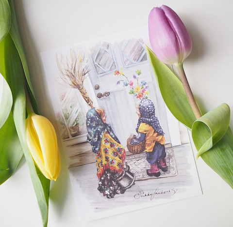 Virpojat-postikortti