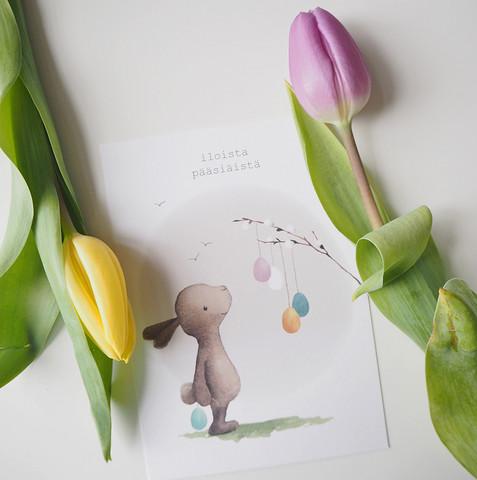 Pupu ja munat-postikortti