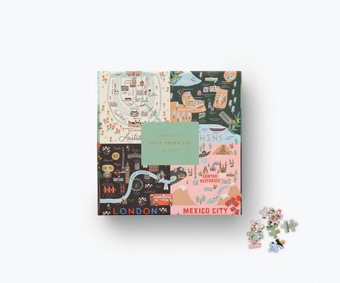 Rifle Paper companyn Maps-palapeli, 500 palaa