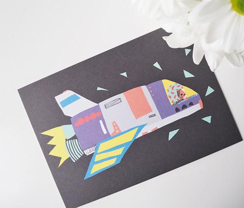 Raketti-postikortti