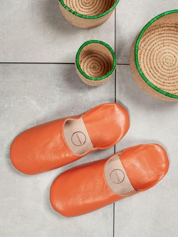 Marokkolaiset tossut, sävy Tangerine. Koko M