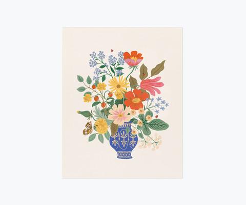 Strawberry fields bouquet-taidejuliste 40x50