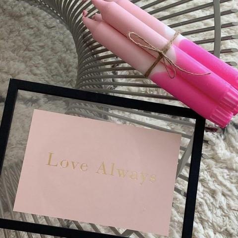 Dip dye-kruunukynttilä, Nro 5. Pinkki-roosa
