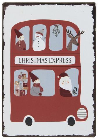 Metallikyltti Christmas express