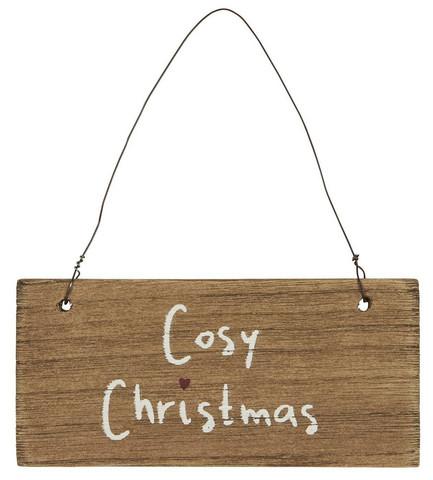 Puinen kyltti Cosy christmas