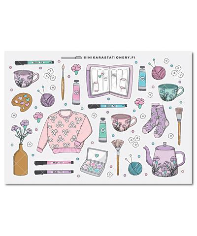 Kotoilu-kalenteritarrat, pastel
