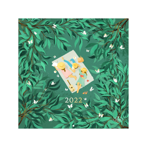 Polka Paper seinäkalenteri 2022 koko 30x30