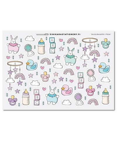 Vauva-kalenteritarrat, pastel