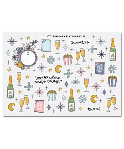 Uusivuosi-kalenteritarrat, pastel