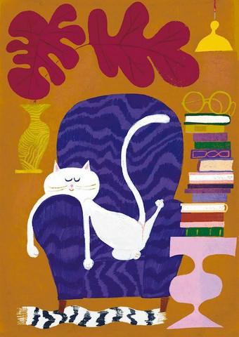 Kehvolan Catnap- juliste, 30x 40 cm