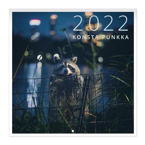 Konsta Punkka seinäkalenteri 2022 20x20 cm