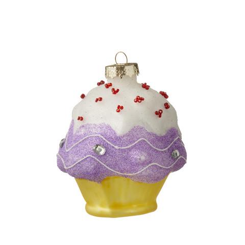 Cup cake-lasinen kuusenkoriste
