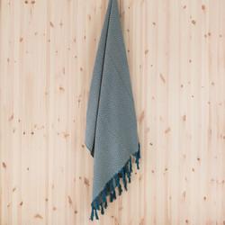 Aalto hamam-pyyhe, luonnonvalkoinen-petrooli
