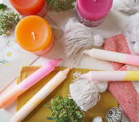 Sisustus, kynttilät, ja kodintekstiilit