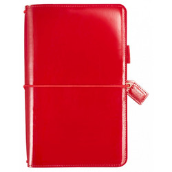 Color crush patent red traveller´s notebook