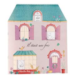 Moulin roty-värityskirja jossa tarroja