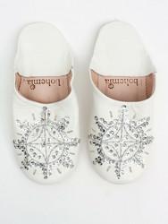 Marokkolaiset tossut, sävy white & silver. Koko M