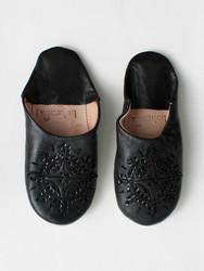 Marokkolaiset tossut, sävy black. Koko M