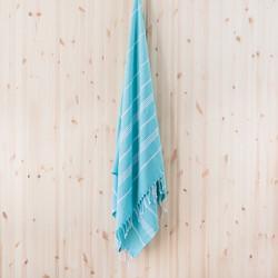 Ranta hamam-pyyhe, kirkas turkoosi