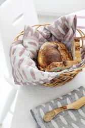 Lapuan Kankureiden Helmi keittiöpyyhe, valko-kaneli