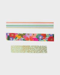 Garden party paperiteipit, kolme erilaista