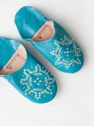 Marokkolaiset tossut, sävy Aqua, koko S