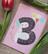 Hyvää syntymäpäivää 3-vuotias 2-osainen kortti