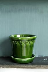 Bergs potter ruukku, Copenhagen Glazed green Emerald, 12 cm