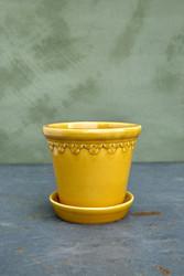 Ruukku Copenhagen Glazed yellow amber, 12 cm
