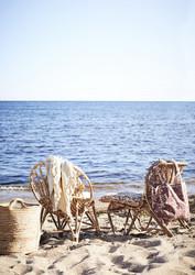 Puuvillainen tuolinpehmuste. oliivi-sinappi. Koko 60 x 100