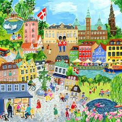 Copenhagen-palapeli, 1000 palaa. Ikäsuositus 7+